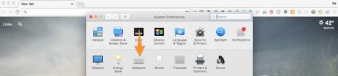 """Screen shot showing how to choose """"Keyboard"""""""